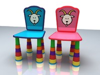 "Children""s Chair Zodiac Symbol Capricorn"