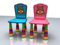 "Children""s Chair Zodiac Symbol Pisces"