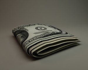 3ds max dollar money paper