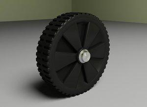 maya plastic wheel