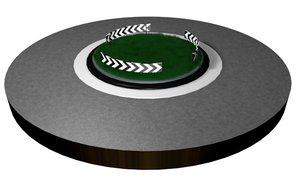 roundabout chevron lines 3d model
