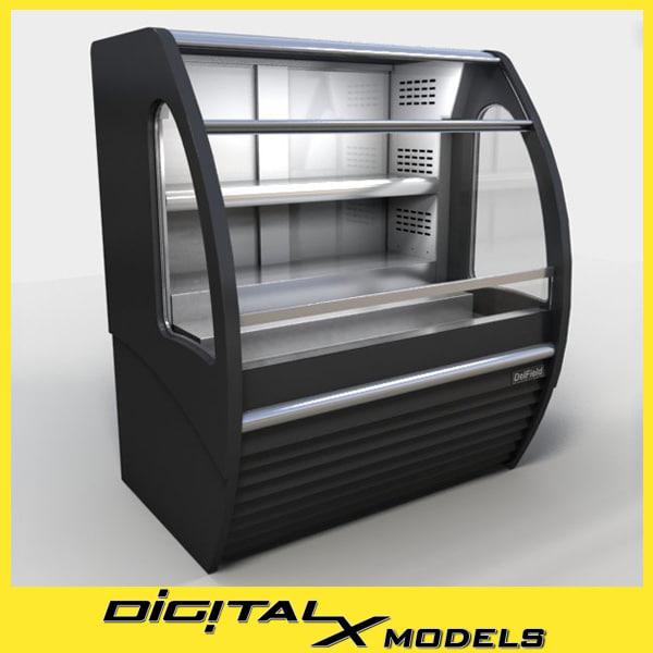 food display cooler 3d max