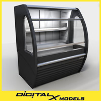 food display cooler 3d max