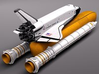 3d space shuttle spacecraft spaceship model