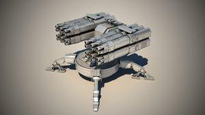maya spider auto turret
