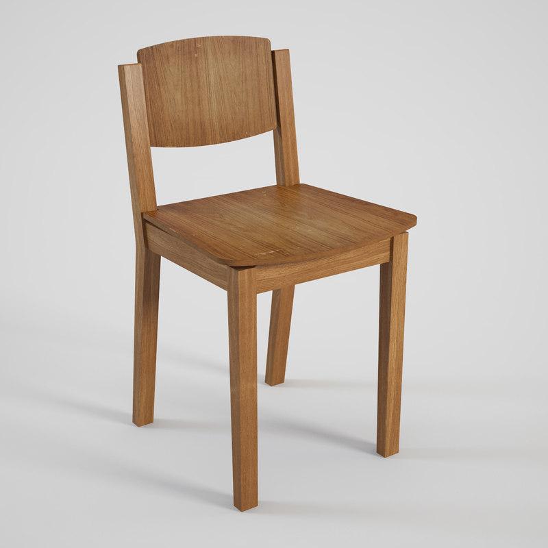tony chair 3d max
