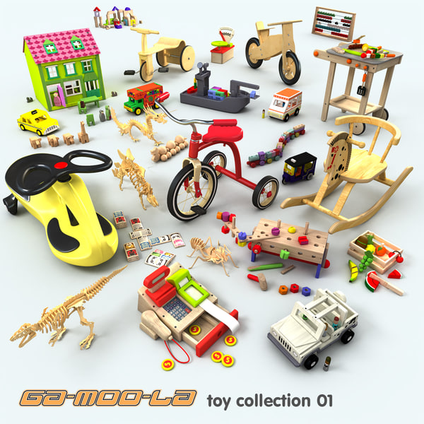 complete toys set 3d max