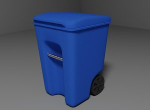plastic garbage 3d model