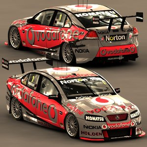 3d holden racing car