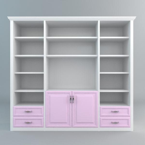 3d bookshelves storage model