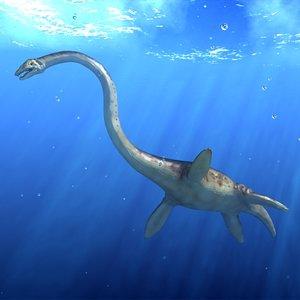 plesiosaur reptile 3d max