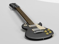 free epiphone lp-100 guitar 3d model
