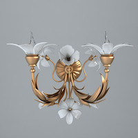3d model antique sconce details