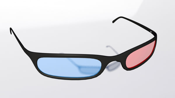 stereo anaglyphs glasses 3d max