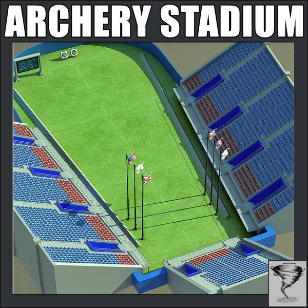 3d model archery stadium