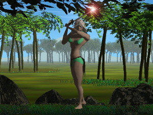 girl forest magical 3ds