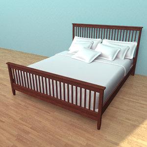 bed pillows mattress 3d obj