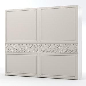 3d model benedetti bedroom armoire