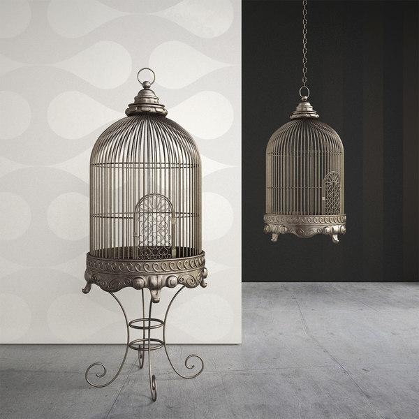 metal birdcage 3ds