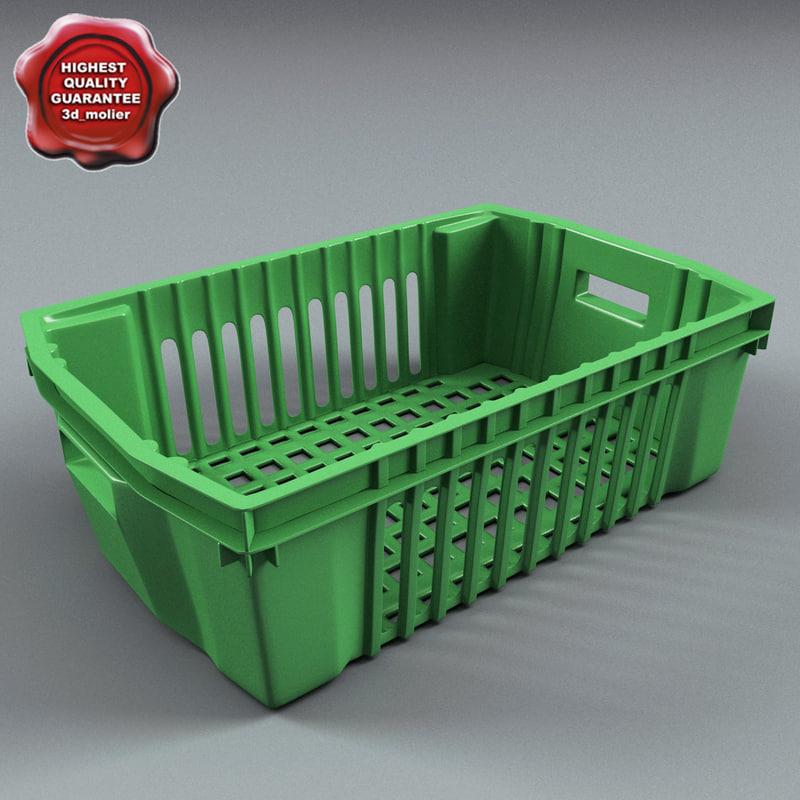 box plastic container 3d max