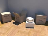 3d boxes - model
