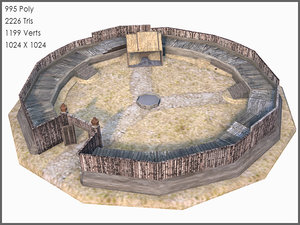 3d max celtic fort