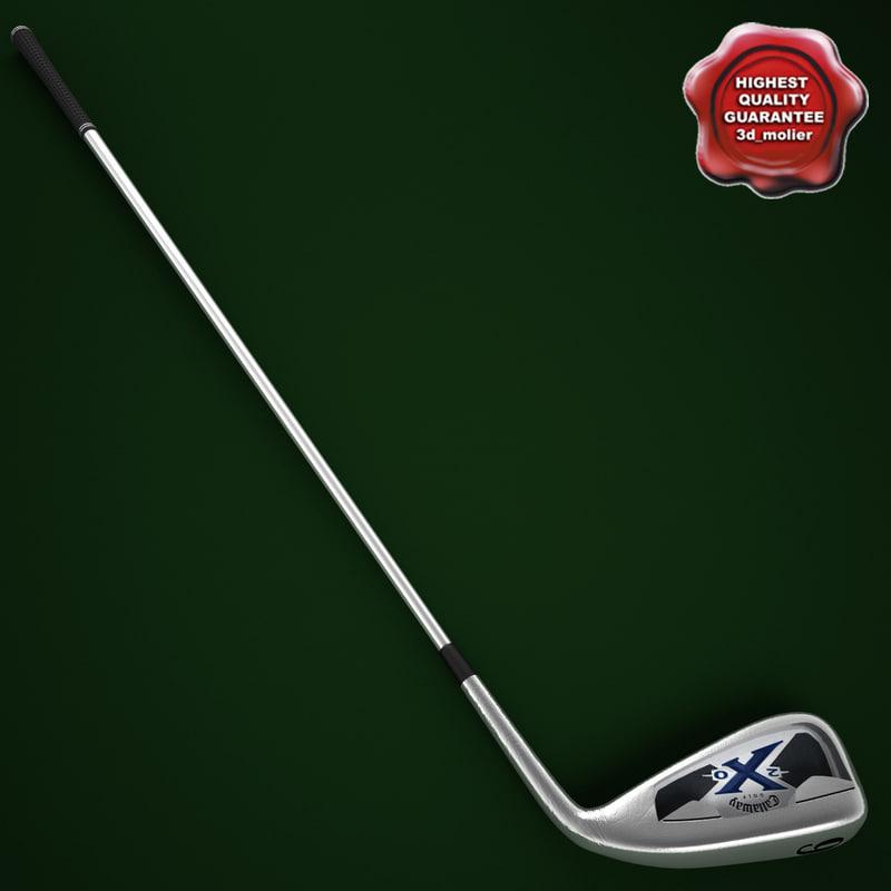 3d model golf callaway x-20 iron