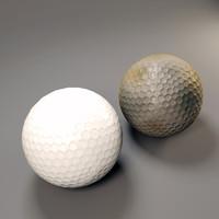 3d model of golf ball
