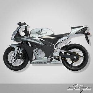 3d model bike cbr 650rr 2007
