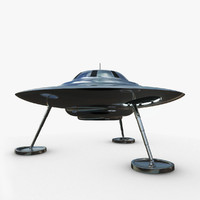 classic flying saucer ufo 3d model