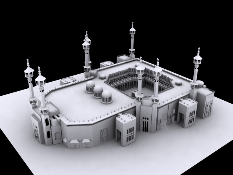 kaaba 3d model