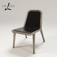 oak chair 3d model