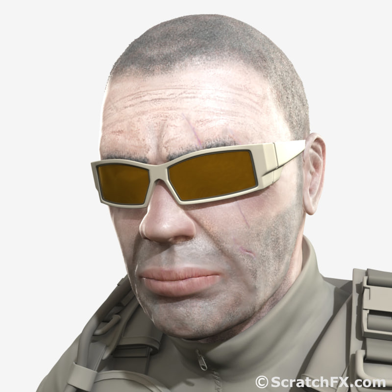 military shooting sunglasses glasses 3d max