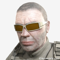 military shooting sunglasses glasses 3d max