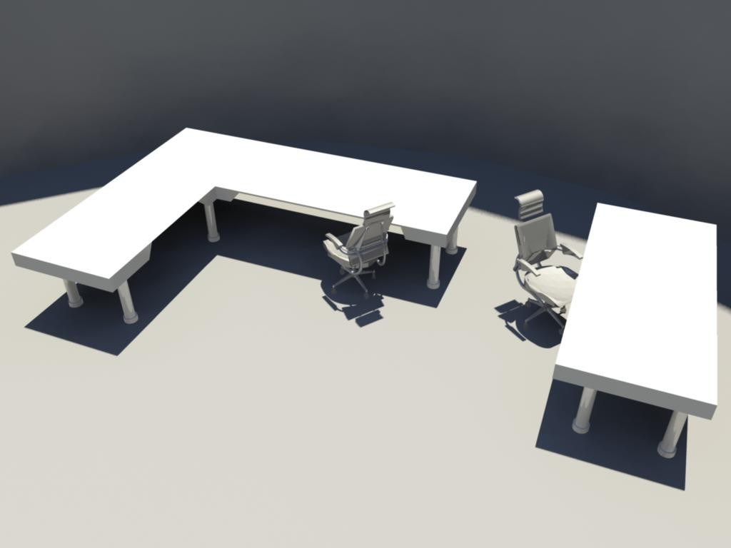 3d table chair - model