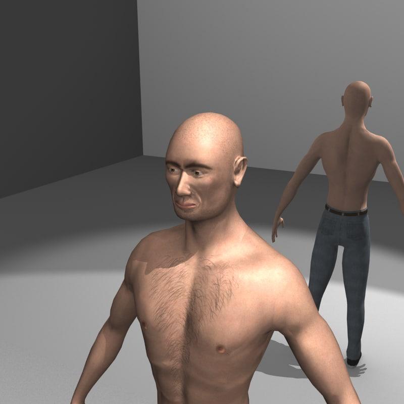 man guy urban 3d model