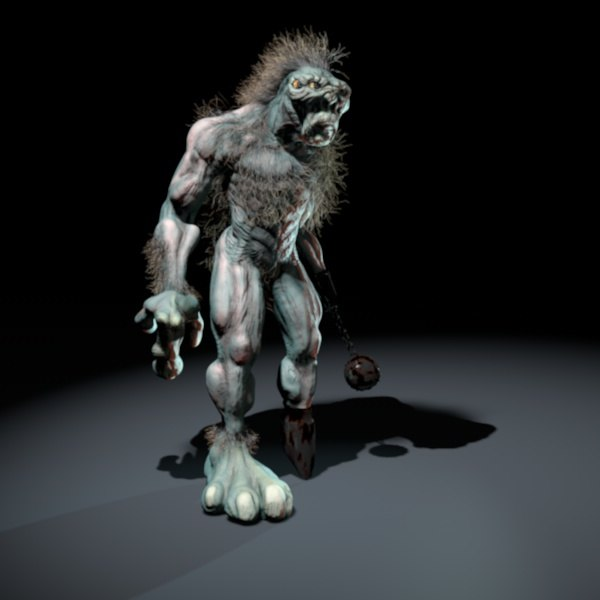 3d model troll gnome giant