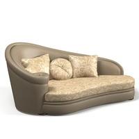 Turri t240 milo classic couch daybed divan sofa chaise baroque victorian