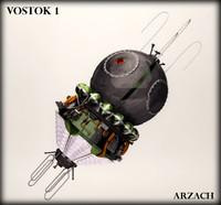 3d vostok 1 capsule rocket