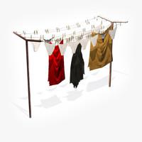 3d clotheshorse clothes model