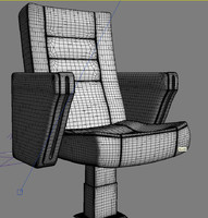 3d model auditorium chair