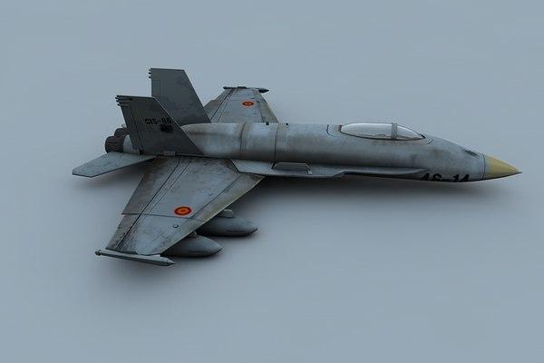 jet airplane combat c4d