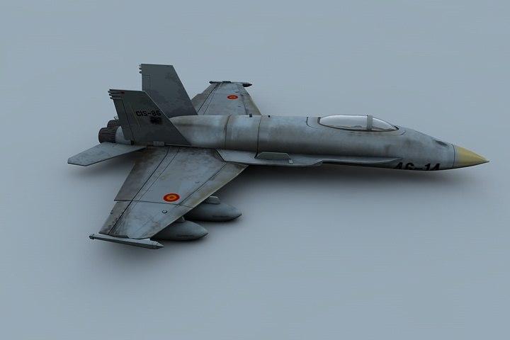 3d c4d jet airplane combat