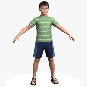3d model rigged ben boy