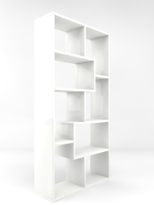 3d bookcase display stand