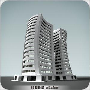 3d model of definition building