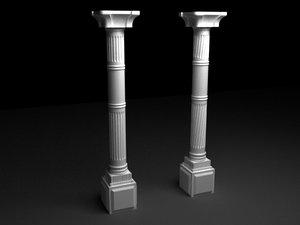 antique column n2 3d model