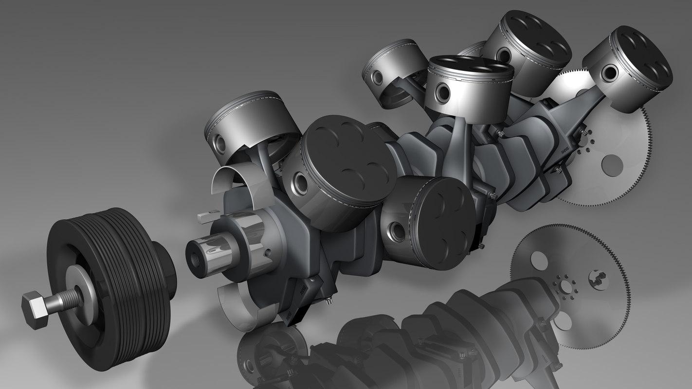 engine parts obj