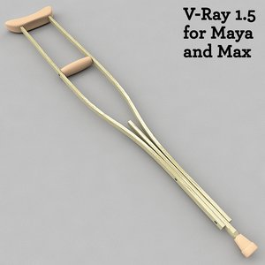 3d crutch v-ray