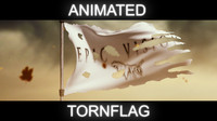 Animated Torn Flag